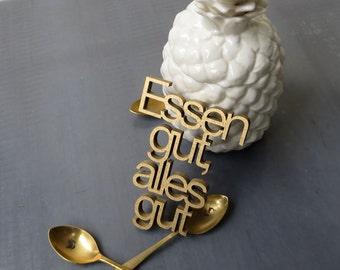 Essen gut, alles gut - wood lettering size M
