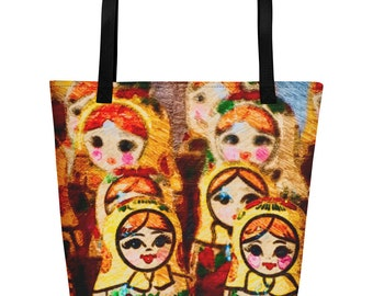 Nesting Doll/Matroyshka Beach Bag