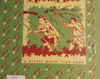1955 Vintage Walt Disney's  Children's Book Robin Hood A Mickey Mouse Club Book