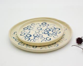 Ceramic dish set, Dinner Set, Ceramic Plates, Pottery Plates, Place Setting, Handmade Pottery,