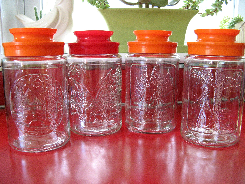 Jahrgang 1970er Jahre Tang trinken Mix Küche Gläser Kanister