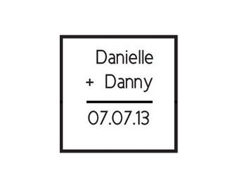 Save the Date wedding math problem custom Rubber Stamp - square great for teachers