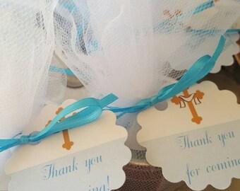 Set of 10 Small Bath Salts Party Favors, Baby Shower Favors, Wedding Favors, Bridal Shower Favors, Baptism Favors, Engagement Favors