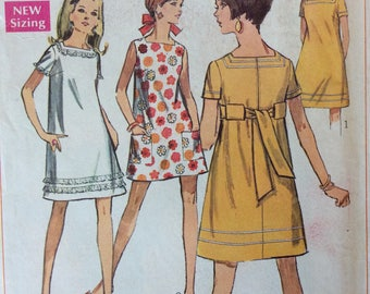 Simplicity 7659 junior misses petite dress size 13 bust 35 vintage 1960's sewing pattern