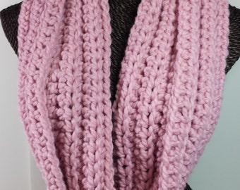 Pink Chunky Infinity Scarf