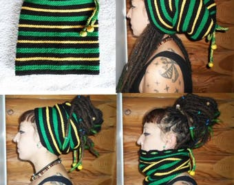 Dreads167 Beanie made entirely by hand crochet!