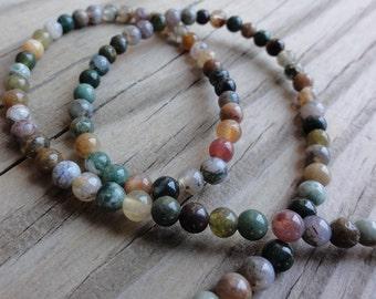Fancy Jasper Beads - 4mm round - full strand
