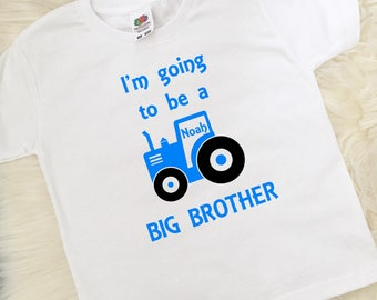 Big Brother T-Shirt, Big Brother Gift, New baby, Boys Clothing, New Big Brother, Pregnancy Announcement, UK