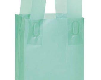 25-Small Aqua Frosty Shopper 5x3x7