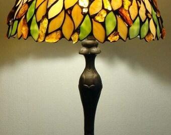 Tiffany Lamp 12'', Glass Lamp,Desk Lamp, Glass Lamp, Baltic Amber, Stained glass lamp, Tiffany lamp