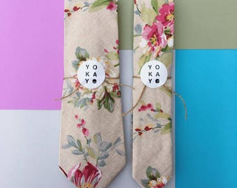 Spanish Floral Tie for Adults, Teens, and Kids (Regular and Skinny)