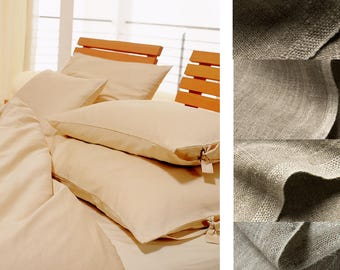 natural linen BEDDING (duvet + pillow cases / shams),handmade from natural linen in different qualities _ heavy, midi weight or light