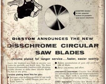 "Disschrome Circular Saw Blade H.L Porter 10"" X 7"" Reproduction Metal Sign Z11"