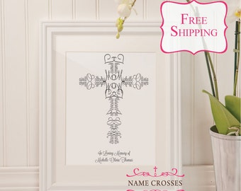 Infant Loss Sympathy Cross Gift | Condolence Gift | Personalized Name Infant Cross Memory Gift | Keepsake Memorial gift | FREE SHIPPING