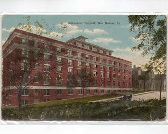 "Iowa, Postcard, ""Methodist Hospital, Des Moines, Iowa""  1918, #883"