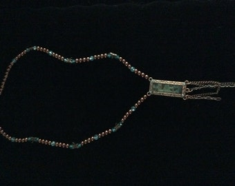 Copper bird necklace