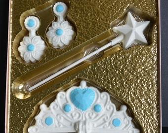 Chocolate Princess Gift Set, Chocolate Princess Gift, Princess Chocolates, Chocolate Crown, Chocolate Magic Wand, Chocolate Tiara