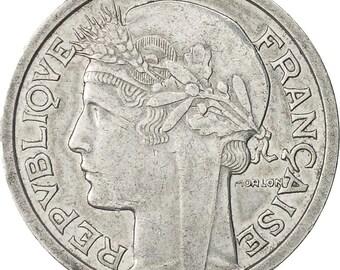 france morlon franc 1957 paris au(50-53) aluminum km885a.1 gadoury473b