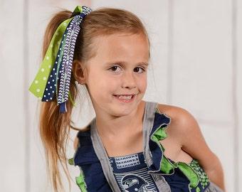Seattle Seahawks Pony O, Seahawks Ponytail Streamer, Seattle Seahawks Girl, Seattle Seahawks toddler,