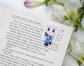 Daenerys 2 - Magnetic bookmark - GoT || book lover gift, khaleesi, bookmark, bookish, bookmarks,  game of thrones, magnetic bookmarks