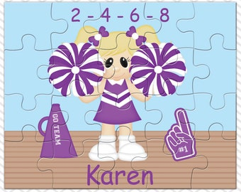 Cheer Personalized Puzzle, Personalized Cheer Puzzle, Personalized Kids Puzzle