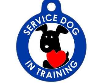 Pet ID Tag - Service Dog in Training -  Medical ID Tag - Medical Alert Tag, Pet Tag, Child ID Tag, Dog Tag, Cat Tag