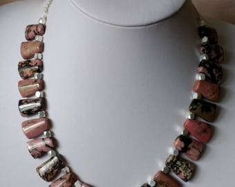 Regal Rhodonite Necklace.