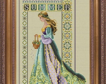 Celtic Summer Counted Cross Stitch Chart Pattern Lavender & Lace Marilyn Leavitt-Imblum LL56