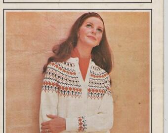Villawool Womens/ Ladies Cardigan, Sweaters/ Jumpers Knitting Pattern Book No 150 Vintage 1970s
