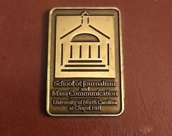Vintage UNC  leather note holder...FREE shipping!!