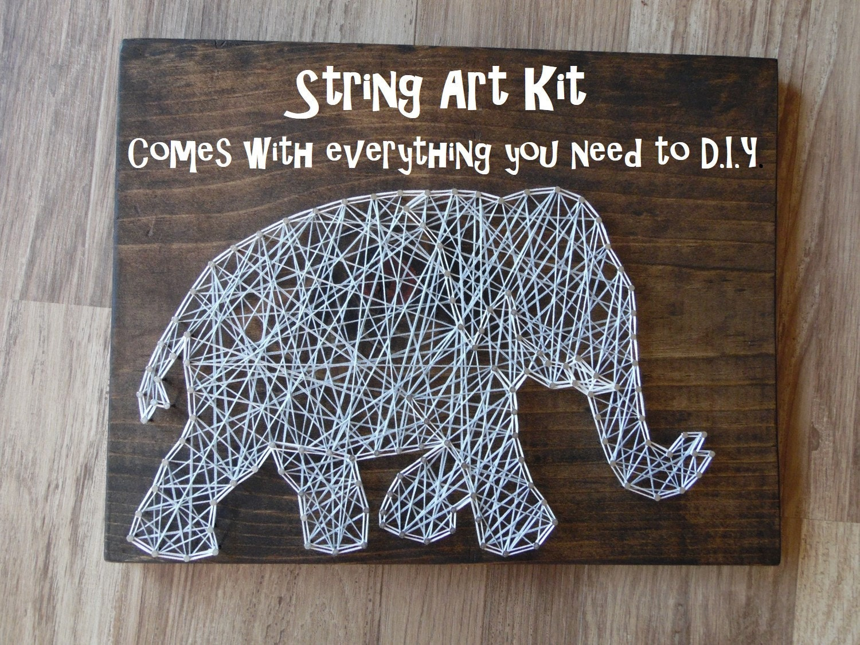 DIY Elephant String Art Kit