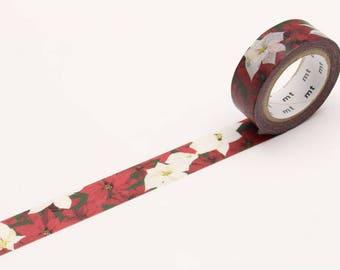 MT Noël 2017 – Poinsettia Washi Tape, MT Masking Tape - MTCMAS82