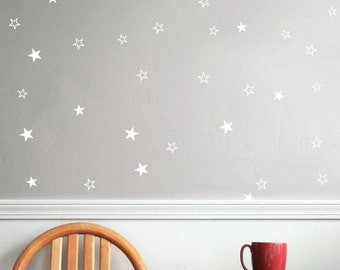 Star Vinyl Wall Decal Silver Stars Star Wall Decal Art - Vinyl wall decals bed bath and beyond