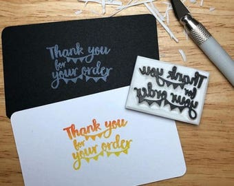 Thank you stamp, Wording stamp, Gift ideas, Custom stamp, Hand carved rubber stamp