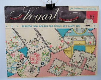 Vintage Original VOGART   NIP  Embroidery / Cross Stitch Transfer Pattern  NIP  #148