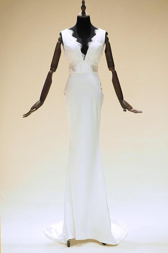 Moderne Vintage Mantel Brautkleid