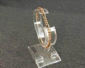 """Vintage 1/20 12K Gold Filled GF Link Bracelet - Edwardian Style, 7"""" Length"""