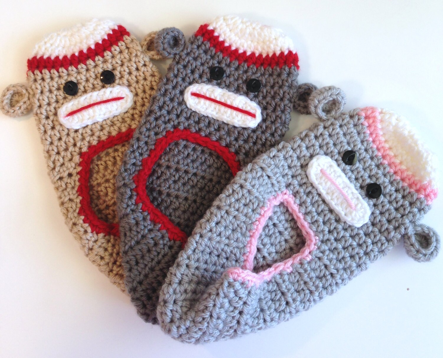 Enchanting Sock Monkey Slippers Crochet Pattern Picture Collection ...