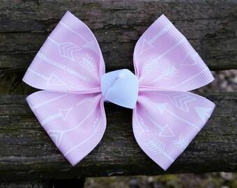 Light Pink Arrow Hair Bow (3.5 inch)