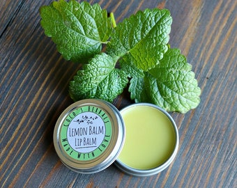 Lemon Balm Lip Balm for Cold Sores and Chapped Lips