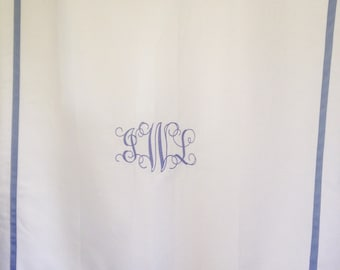 Monogram Shower Curtain Bath