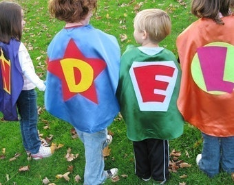 4  Superhero Kids Capes  Princess Superhero Kid Cape party favors