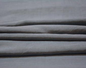 Grey Silk Cotton Fabric
