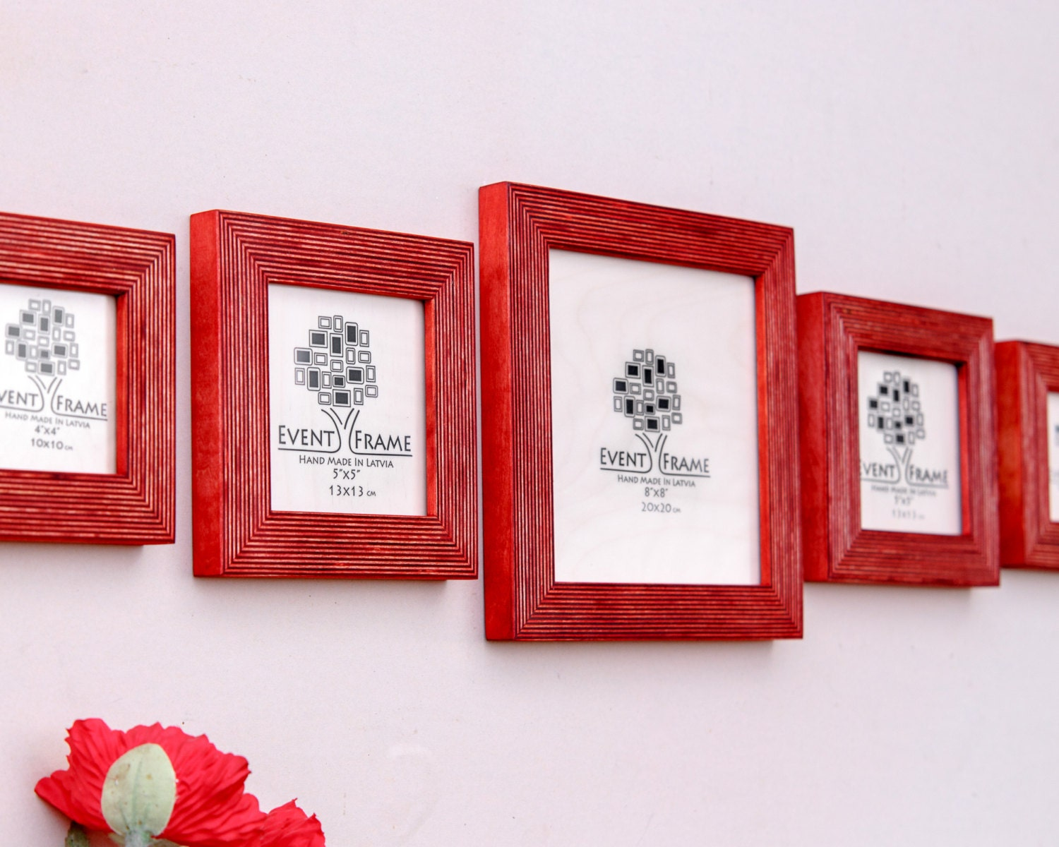 Square Picture Frame Set of 5 Frames, Sizes 8x8\