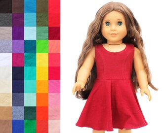 Fits like American Girl Doll Clothes - The Everyday Princess Dress, You Choose Color | 18 Inch Doll Clothes