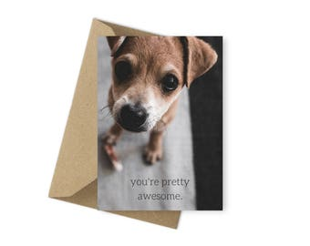 Printable Love Card Happy Valentine's Day Cards You're Pretty Awesome Instant Downloads