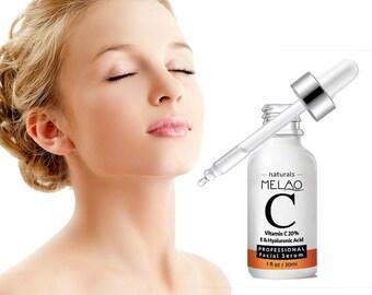 Skin Care Whitening Brighten Vitamin C Hyaluronic Acid Serum Anti-Aging Moisturizing Serum