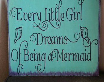 "Mermaid Beach sign.  11"" x 12"""