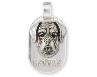 Boxer Pendant Jewelry Sterling Silver Handmade Dog Pendant BX9-DT