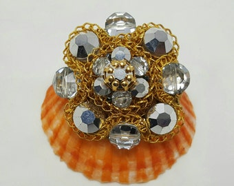 Vintage Beaded Pin